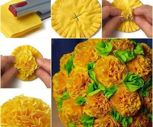 diy, flowers, and yellow image