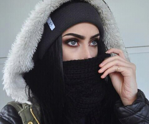 girl, black, and eyes image