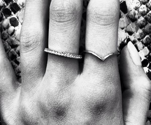 rings, fashion, and black and white image