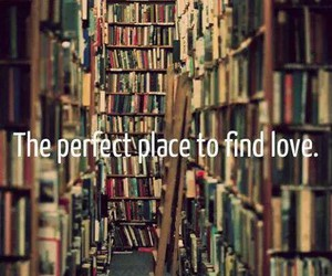 books, love, and place image