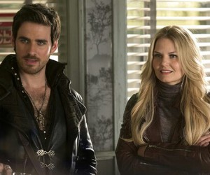 emma swan, hook, and once upon a time image
