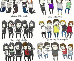 sleeping with sirens, pierce the veil, and black veil brides image