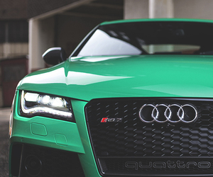 audi, car, and green image
