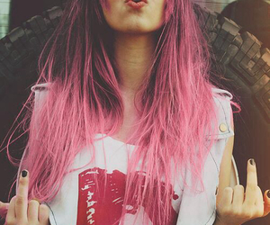 alternative, rock, and colored hair image