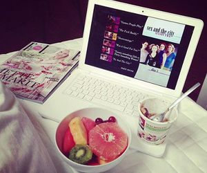 fruit, food, and magazine image