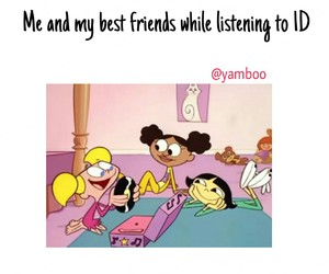 besties, funny, and music image
