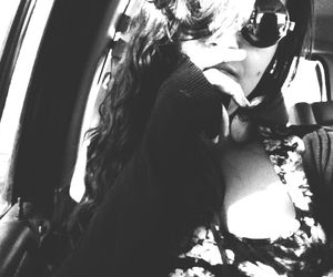 black and white, grunge, and sunglasses image