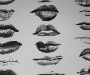 lips, drawing, and mouth image