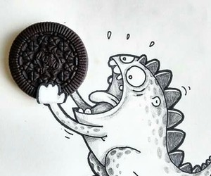 oreo, art, and food image