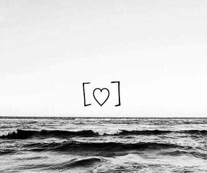 heart, wallpaper, and sea image