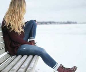 boots, sweater, and fashion image