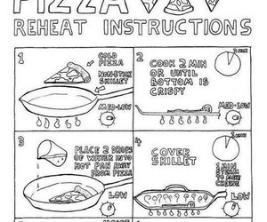 food, instruction, and pizza image