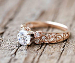 ring, promess, and wedding image
