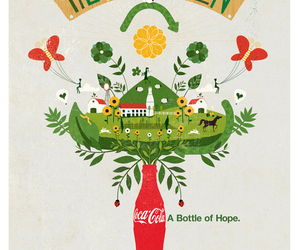 coca cola, hope, and illustration image