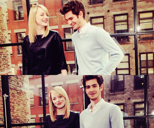 emma stone, andrew garfield, and the amazing spider-man image