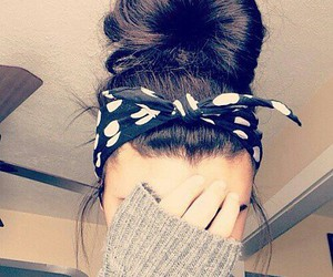 hair, bun, and hairstyle image