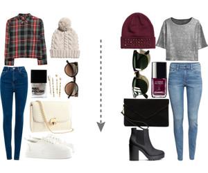 bag, beanie, and fashion image