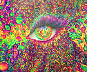 eye, art, and colorful image