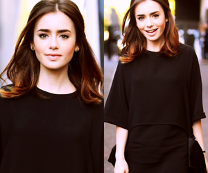 collins, lily collins, and girl image