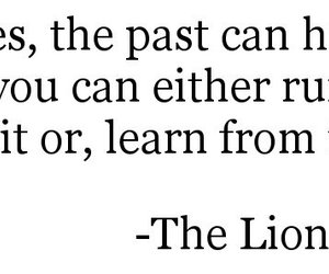 quote, past, and the lion king image