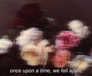 rose, grunge, and quote image