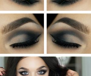 blue eyes, dark, and glamourous image