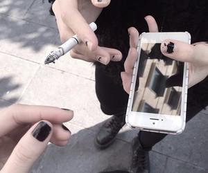 black, grunge, and cigarette image