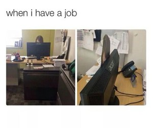 boss, funny, and job image