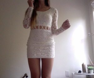 dress, pale, and white image