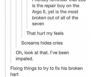 broken, feels, and percy jackson image
