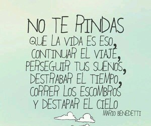 frases, mario benedetti, and dreams image