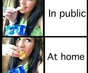 funny, chips, and home image