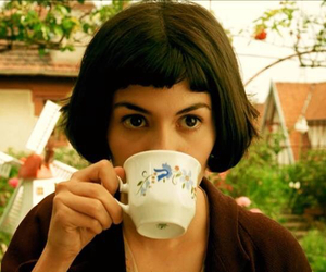 amelie, movie, and tea image