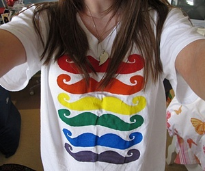mustache, girl, and moustache image