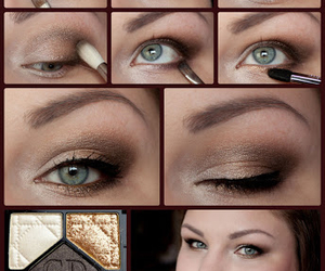 brown, makeup, and eyes image