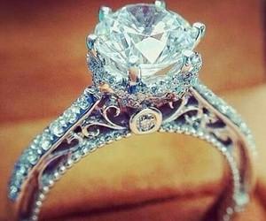 ring, diamond, and wedding image