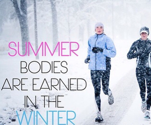 winter, workout, and body image