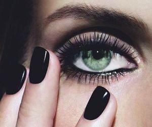 make up, black, and eyes image