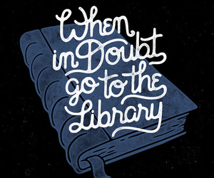 quote, library, and book image