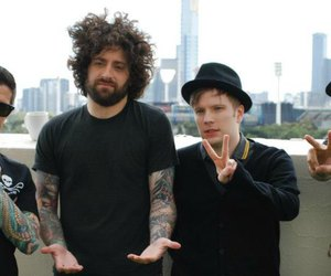 patrick stump, joe trohman, and andy hurley image