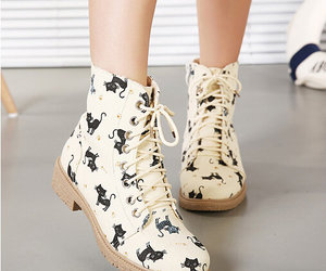 cat, fashion, and boots image