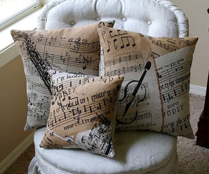 pillow, music, and violin image