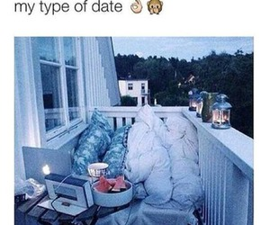 date, night, and bed image