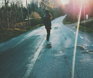 girl, skate, and grunge image