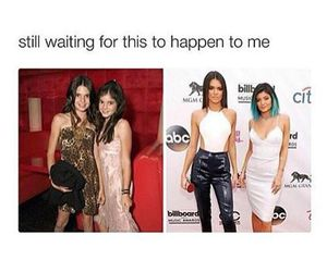 kylie jenner, kendall jenner, and funny image