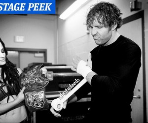 paige, wwe, and dean ambrose image