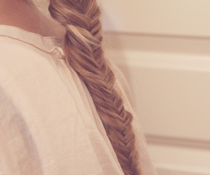 alone, braid, and pink image