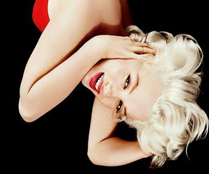 blond, dress, and Marilyn Monroe image