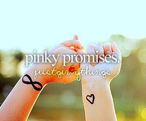 pinky promise, promesas, and promises image