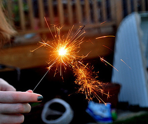 photography, sparks, and fire image